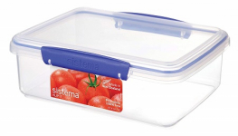 SISTEMA RECT 2L LUNCH BOX CLEAR (1700)