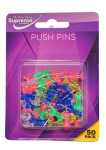 PUSH PINS ASST CARDED 50PK (PP-295)