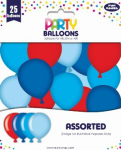 PARTY BALLOONS BOYS 25 PACK (12924-B-1)