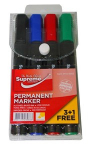 PERMANENT MARKERS 4PK LARGE (PM4-9883)