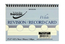RECORD CARD 5X3 SPIRAL WHITE (RC-1066)