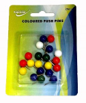 PUSH PINS COLOURED 20PK (PP-4029)