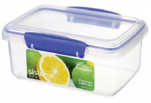 SISTEMA RECT 1L LUNCH BOX CLEAR (1600)