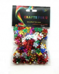 GLITTER SHAPES FLOWERS 20G (GS-002)