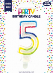 BIRTHDAY CANDLE 5 GLITTERED (6828-5-OBB)
